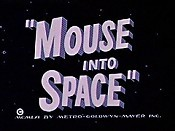 Mouse into Space Cartoon Picture
