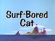 Surf-Bored Cat Cartoon Character Picture