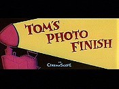 Tom's Photo Finish Cartoon Character Picture