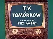 T.V. Of Tomorrow Cartoon Character Picture