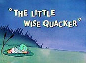 The Little Wise Quacker Free Cartoon Picture