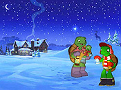 Franklin's Magic Christmas Pictures To Cartoon