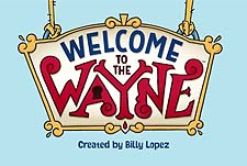 Welcome To The Wayne Web Cartoon Series Logo