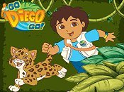 Diego and Porcupine Save the Pinata! Cartoon Picture