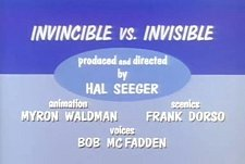 Invincible Vs. Invisible Cartoon Character Picture