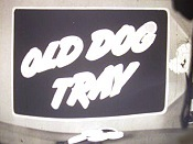 Old Dog Tray Cartoon Picture