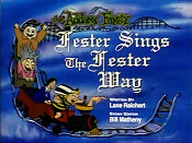Fester Sings The Fester Way Cartoon Funny Pictures