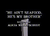 He Ain't Seafood, He's My Brother Cartoon Funny Pictures