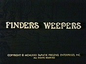Finders Weepers Cartoon Character Picture