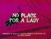 No Place For A Lady Cartoon Picture