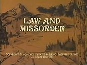 Law And Missorder