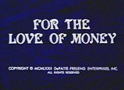 For The Love Of Money Cartoon Picture