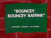 Bouncey Bouncey Batfink Cartoon Character Picture