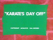Karate's Day Off Cartoon Character Picture