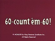 60 - Count 'em - 60! Cartoon Picture