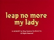 Leap No More My Lady Cartoon Character Picture