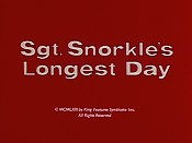 Sgt. Snorkle's Longest Day Pictures In Cartoon