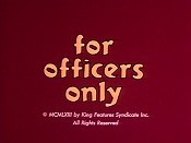 For Officers Only Cartoon Character Picture