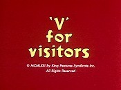 'V' For Visitors Pictures In Cartoon