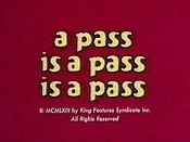 A Pass Is A Pass Is A Pass The Cartoon Pictures