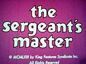 The Sergeant's Master The Cartoon Pictures