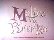 Malice In Blunderland Pictures In Cartoon