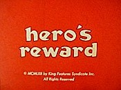 Hero's Reward Cartoon Picture