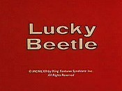 Lucky Beetle Cartoon Character Picture