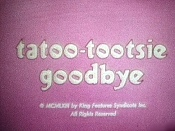 Tatoo-Tootsie Goodbye Cartoon Character Picture
