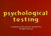 Psychological Testing The Cartoon Pictures