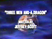 Three Men And A Dragon Cartoon Picture