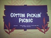 Cotton Pickin' Picnic Cartoon Picture