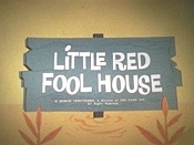 Little Red Fool House Picture Into Cartoon