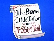 The Brave Little Tailor Or T-Shirt Tall Pictures In Cartoon