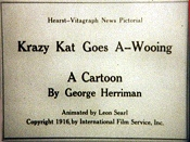 Krazy Kat Goes a-Wooing Free Cartoon Pictures