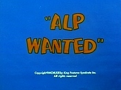 Alp Wanted Cartoon Character Picture