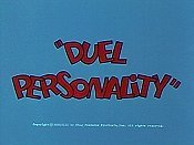 Duel Personality Cartoon Picture