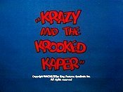 Krazy And The Krooked Kaper Picture Of Cartoon