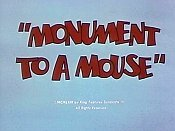 Monument To A Mouse The Cartoon Pictures