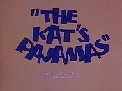 The Kat's Pajamas Cartoon Character Picture