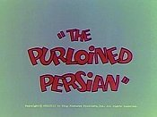 The Purloined Persian The Cartoon Pictures