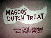 Magoo's Dutch Treat Picture Into Cartoon