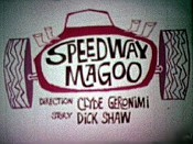 Speedway Magoo Cartoon Picture