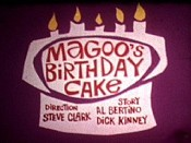 Magoo's Birthday Cake Picture Into Cartoon