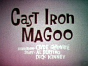 Cast Iron Magoo Picture Into Cartoon