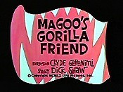 Magoo's Gorilla Friend Picture Into Cartoon