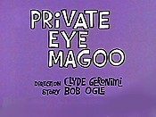 Private Eye Magoo Cartoon Picture