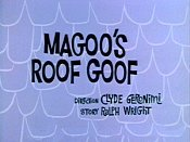Magoo's Roof Goof Picture Into Cartoon