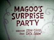 Magoo's Surprise Party Picture Into Cartoon