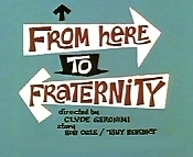 From Here To Fraternity Cartoon Character Picture